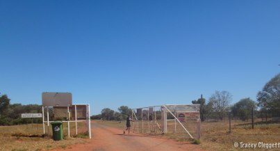 The rabbit proof fence.