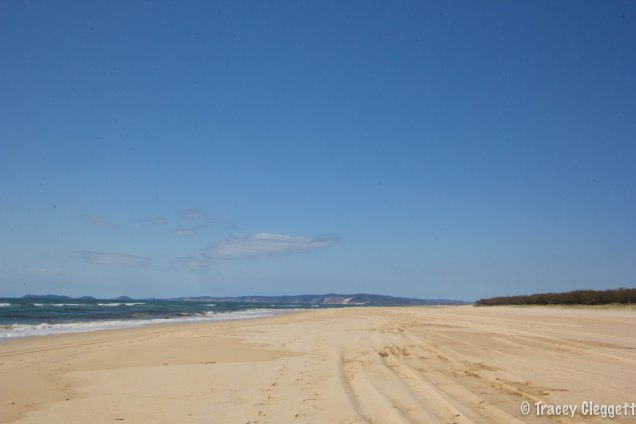 The view over to Fraser Island from Inskip Point