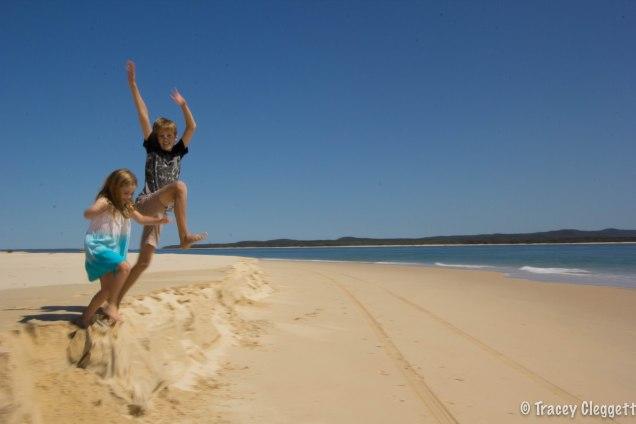 Kids having fun on the dunes!