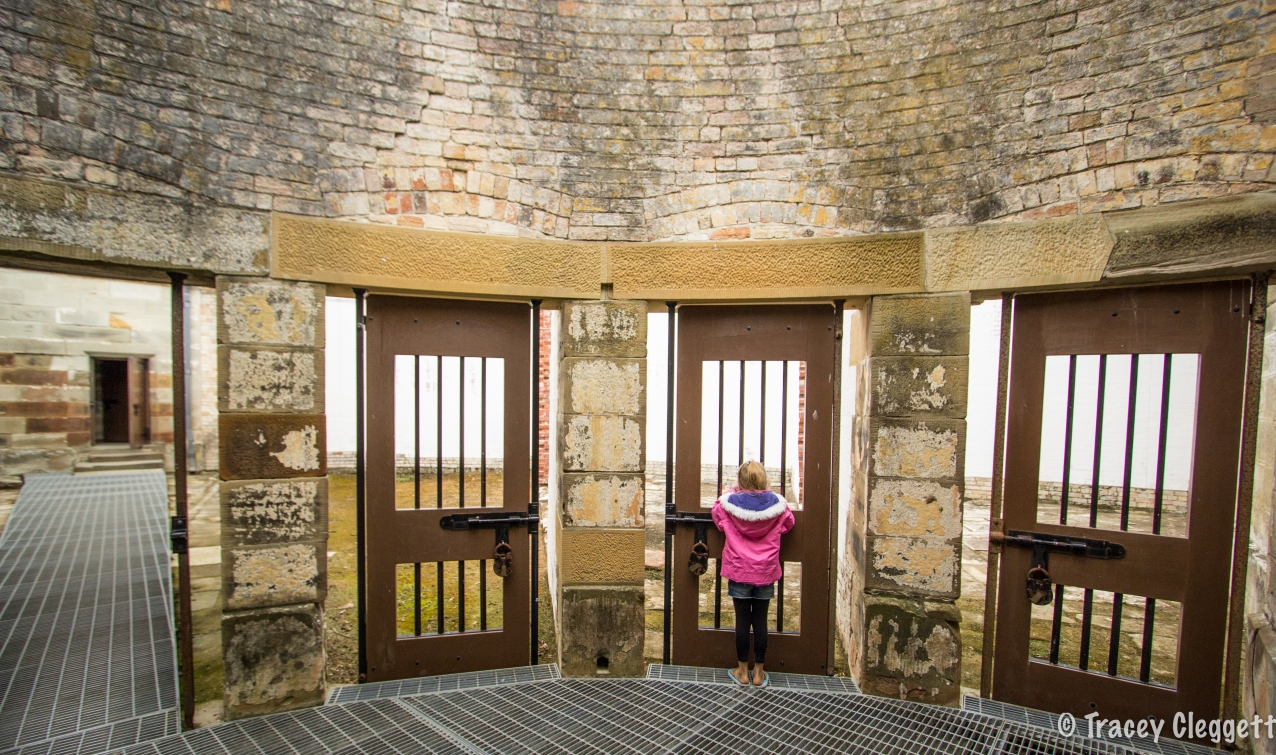 Exercise Yards in the Silent Prison